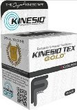 Kinesio Tex Gold Wave, Latex-Free, Water-Resistant - Black 6 PACK, 2'' X 16.4' #45024