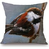 Alphadecor 16 X 16 Inches / 40 By 40 Cm Bird Pillow Cases,