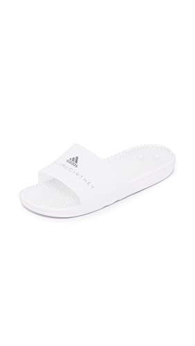 adidas by Stella McCartney Women's Adissage W Shower Slides, FTWR White, 10 B(M) US