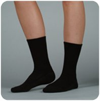 - Silver Sole Support Sock,12-16,Sml,Crew,Blk