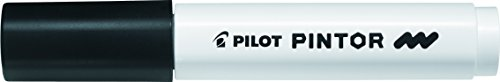 Pilot Pintor Multi Surface Medium Line Permanent Marker Pens - Writes on ALL Surfaces! (Black)