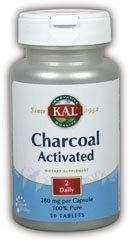 KAL Charcoal Tablets, 280 mg, 50 Count (Kal Charcoal)