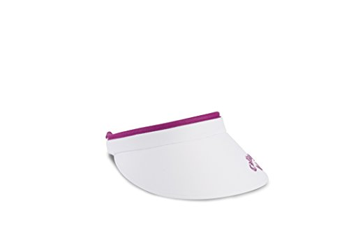 - Callaway Women's Liquid Metal Clip Visor, White/Purple, One Size