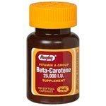 Rugby Beta Carotene 25000IU SGEL Beta CAROTENE-25000 Unit red 100 SOFTGELS UPC 005364902014