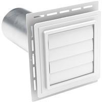 Alcoa Home Exteriors: White Exhaust Vent Exvent Pw 2Pk
