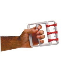 CanDo Latex Free rubber-band hand exerciser, with 5 red bands, case of 50 by Cando