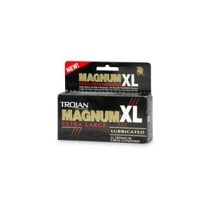 Trojan Magnum XL Extra Large Latex Condoms, Lubricated, 12-Count Boxes (Pack of 3)