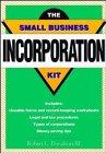 Small Business Incorporation Kit, Robert L. Davidson, 0471576522