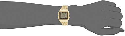 Casio - A500WGA-1D - Vintage - Montre Mixte - Quartz Digital - Cadran LCD - Bracelet Acier plaqué Doré