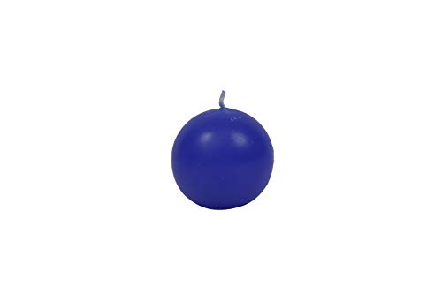 Aroma India Round Wax Unscented Ball Candle (5 cm x 5 cm x 5 cm, Blue)