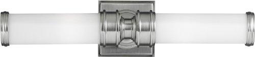 Feiss VS48002-BS Payne Glass Wall Vanity Bath Lighting, Satin Nickel, 2-Light (5