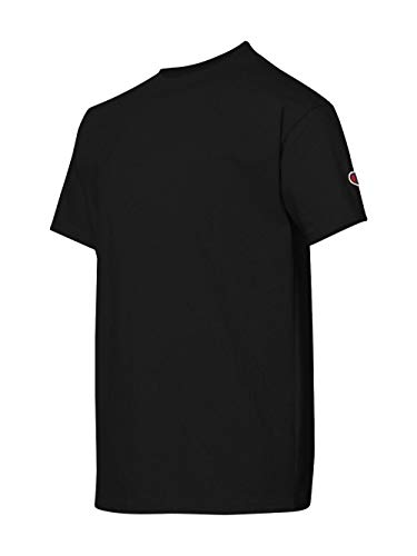 Champion Boys Boys' Big Short Sleeve Jersey Tee, Black, S