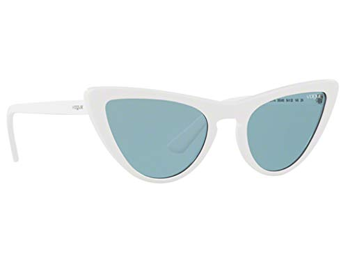 - VOGUE Women's Plastic Woman Sunglass Cateye, WHITE, 54 mm