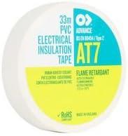 ELEC Insul Advance Tapes Tape 19MMX33M AT7 White 33M X 19MM AT7 PVC