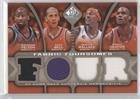 Raymond Felton; Raja Bell; Gerald Wallace; Emeka Okafor #108/125 (Basketball Card) 2009-10 SP Game Used - Fabric Foursomes - Level 1 #F4-WBOF (Wallace Bell 2009)