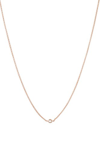 HONEYCAT Solo Tiny Crystal Bezel Necklace in 18k Rose Gold Plate | Minimalist, Delicate Jewelry (Rose - Bezel Gold 18k Rose