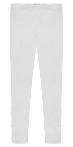 Popular Big Girl's Cotton Ankle Length Leggings - White - 10]()