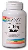 Solaray Cal-Mag Citrate Capsules, 180 comte
