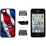 Personalized Costa Rica Satin Flag also With USA Flag make Letters Name newcomer Plastic Phone challenge Case Back Cover For Apple iPhone 4 4S
