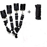 Restraint Strap (Under Bed Restraints Kit Straps with 32 feet 10 meter Cotton Rope)