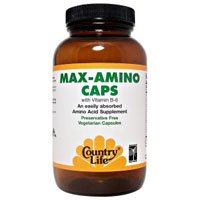 COUNTRY LIFE VITAMINS MAX AMINO W/B-6, 180 VCAP by Country Life