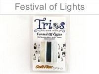 (Soft Flex Trios Beading Wire - Festival of Lights - 925 Sterling Silver, Lapis, White Quartz)