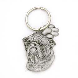 Bulldog Keychain by Karas and Rocha Marketing
