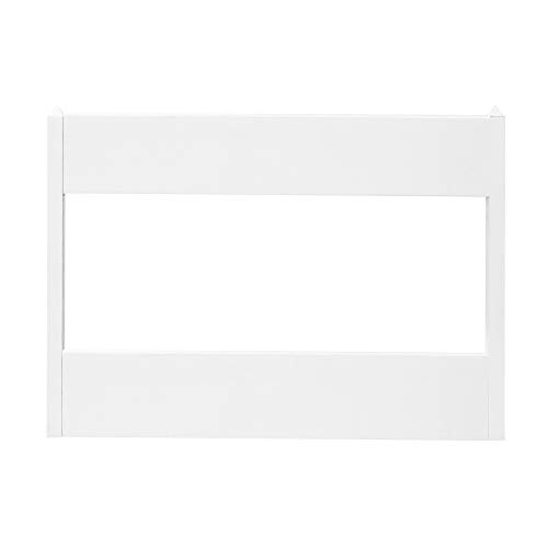 2 Rail White Vinyl GATE Heavy Duty Internal Steel Frame for Agriculture Commercial OR Residential. Comes with A Hinge Set, Latch and Drop Rod for Double Gates (10) (5')