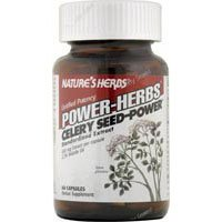 NATURE'S HERBS CELERY SEED-POWER, 60 CAP