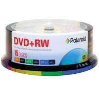 Polaroid PRDVDPRW15S DVD+RW 4.7GB 120-Minute 4x Rewritable DVD Disc, 15-Pack Spindle