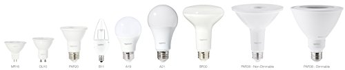 AmazonBasics 50 Watt Equivalent, Daylight, Dimmable, GU10 LED Light Bulb - 6 Pack