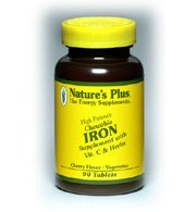 Nature's Plus – Iron 40mg, 90 tablets