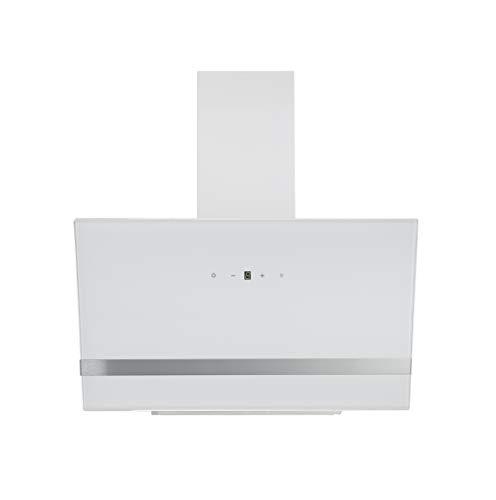 respekta Campana inclinada de diseño, color blanco, 90 cm, CH24090WAM, eficiencia energética: A, CH 24060 WAM, 74,2-109,2 x 89,5 x 38,5 cm
