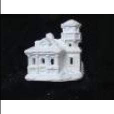 Plastercraft unpainted Holiday Village House Approx. use Acrylic Paints 4