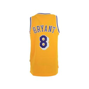 Kobe Bryant Los Angeles Lakers Gold Throwback Swingman Jersey Medium