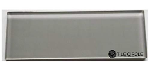 Glass Subway Tile Modern Grey 4