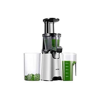 ... Juicer for Smooth and High Nutrition Juicer,Vertical Faster Masticating Juicer Includes - Making Juice,Jam and Sorbet,Quiet Juicer Extractor,Silver