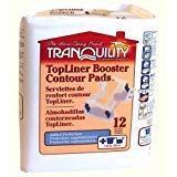 Tranquility TopLiner Contour Pads Moderate-Absorbency, 120/Bag (Pad Top Booster Liner)