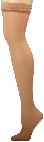 (Hanes Women's Silk Reflections Thigh Highs, Little Color, A/B)