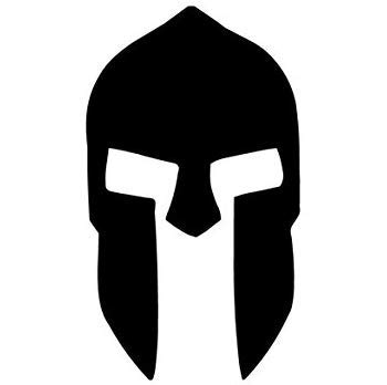 - Pack of 3 Spartan Helmet Style 2 Stencils, 16x20, 11x14 and 8x10 Made from 4 Ply Matboard