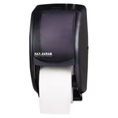- Duett Standard Bath Tissue Dispenser, 2 Roll, 7 1/2w x 7d x 12 3/4h, Black Pearl