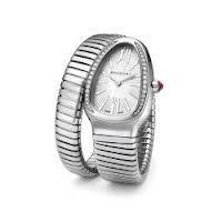 Bvlgari Serpenti Ladies Silver Face Watch (Bvlgari Silver Watch)