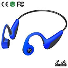 Bone Conduction Headphones Bluetooth 5.0 Open-Ear Wireless Sports Headsets w/Mic for Jogging Running Driving...