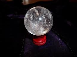 (Maa Padma Farms Crystal Ball for Positive Energy or Vibration/Feng Shui Energetic Crystal Ball for Good Luck, Prosperity and Success - The Himalayan Collections (40 mm) )