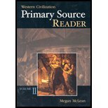 Primary Source Reader to accompany Western Civilization, McLean, Megan, 0072837233