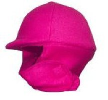 Fleece Equestrian Riding Helmet Cover - Hot Pink