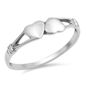 Heart Cute Jewelry Gift for Women in Gift Box Glitzs Jewels 925 Sterling Silver Ring