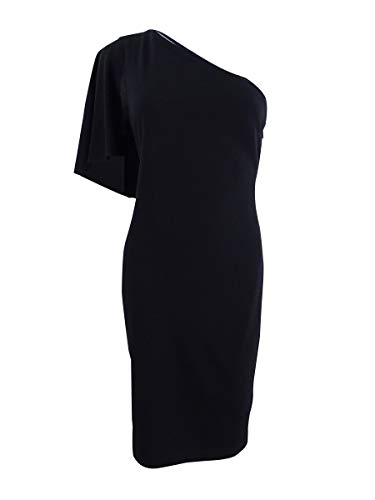 - Calvin Klein Women's One-Shoulder Sheath Dress Black 6