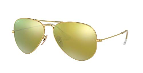 Polarized Gold Mirror - Ray Ban RB3025 112/93 58M Matte Gold/ Brown Gold Mirror Aviator
