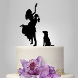 Buythrow Drunk Bride Wedding Cake Topper with Dog, Funny